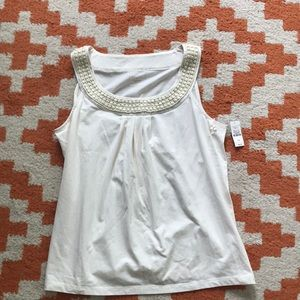 White Talbots Petite Medium Top